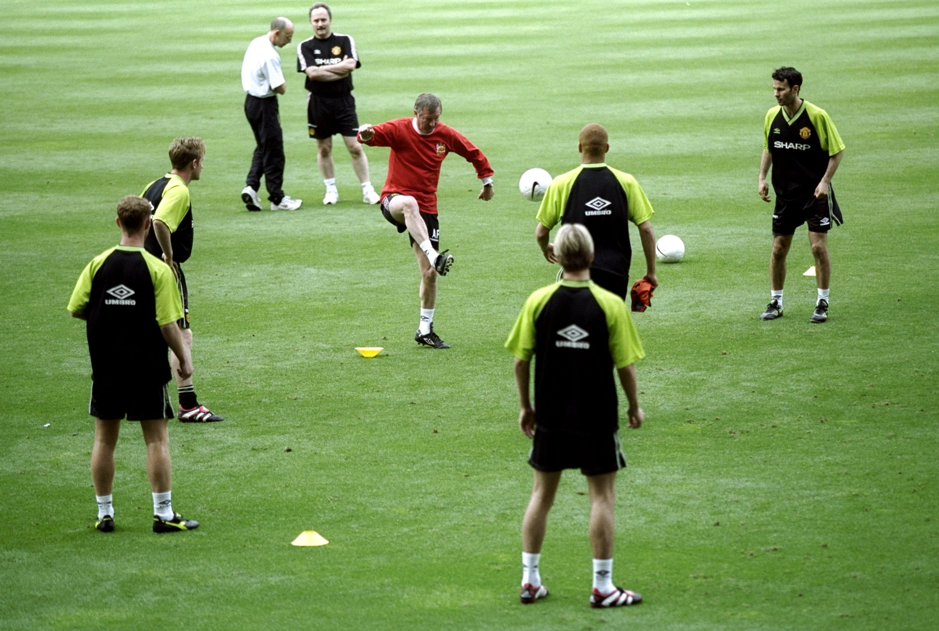 John Curtis training with Manchester United