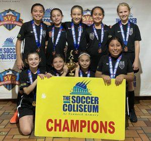 NCE 2010 Girls Soccer Coliseum Champions